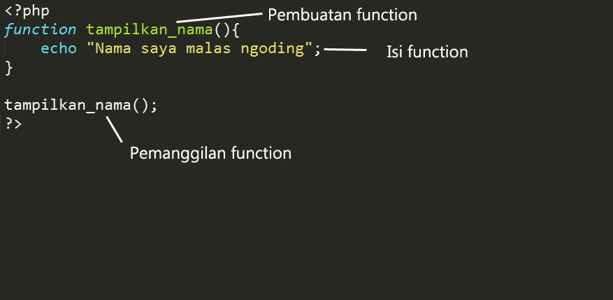 Belajar PHP Mengenal Function Pada PHP