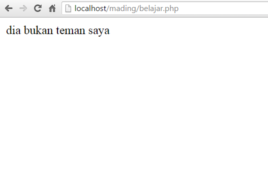 contoh penulisan kondisi if else pada php