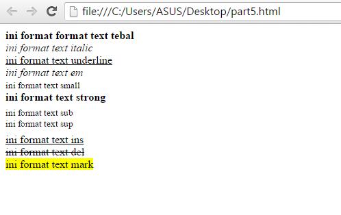 Belajar HTML Format Text Pada HTML