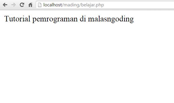 Belajar PHP Manipulasi String Pada PHP