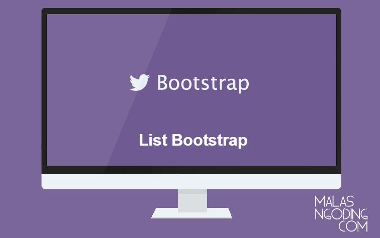 Membuat list dengan bootstrap