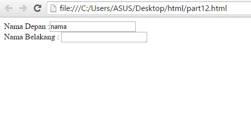 Belajar HTML Atribut Form pada HTML