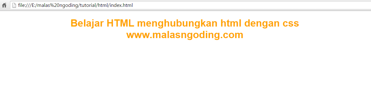 belajar html menghubungkan html dengan css