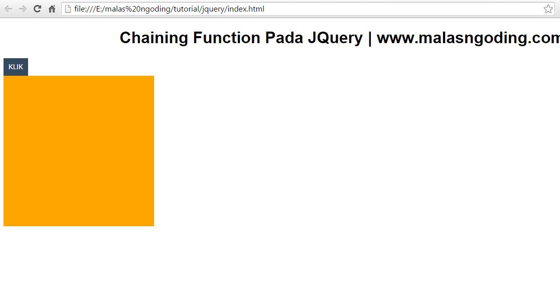 belajar jquery chaining function pada jquery