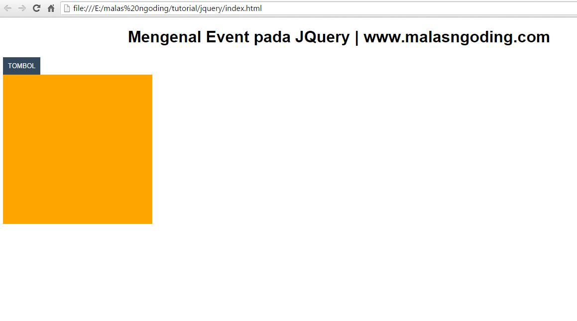 belajar jquery mengenal event pada jquery