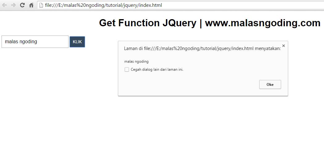 Mendapatkan nilai dan value dengan JQuery
