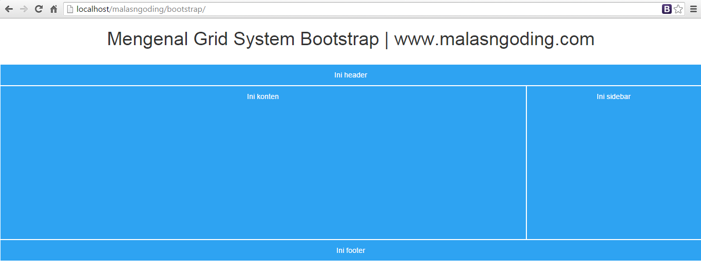 Bootstrap part 16 mengenal grid system bootstrap malas ngoding - Div class footer bootstrap ...