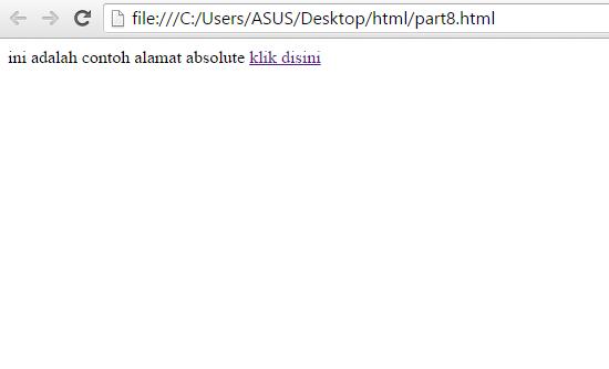 Membuat Hyperlink Pada HTML