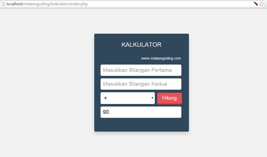 membuat aplikasi kalkulator dengan php