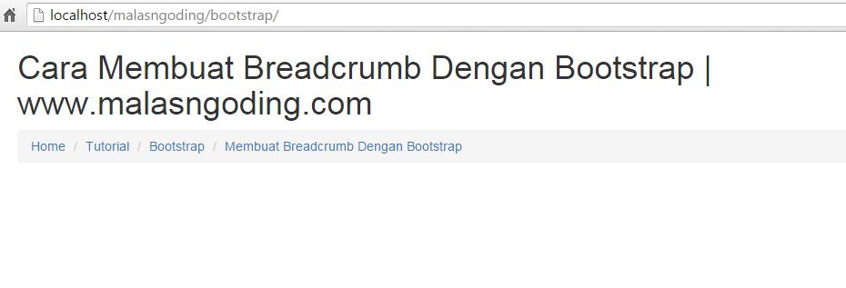 membuat breadcrumb dengan bootstrap