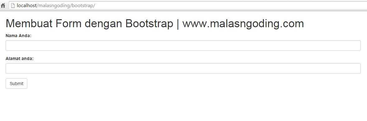 membuat form dengan bootstrap