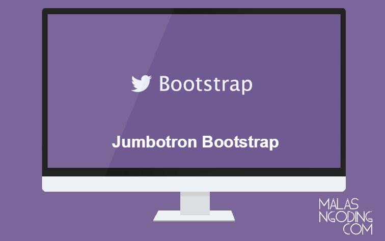 membuat jumbotron dengan bootstrap