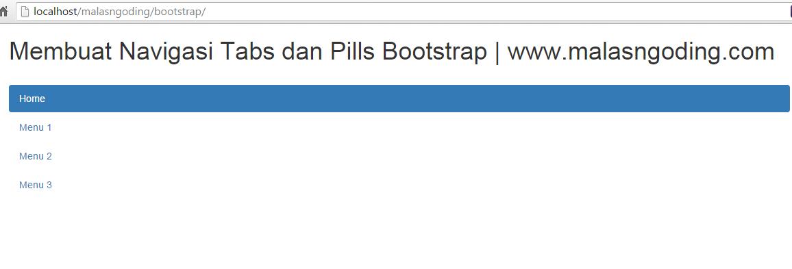 membuat nav pills vertikal dengan bootstrap