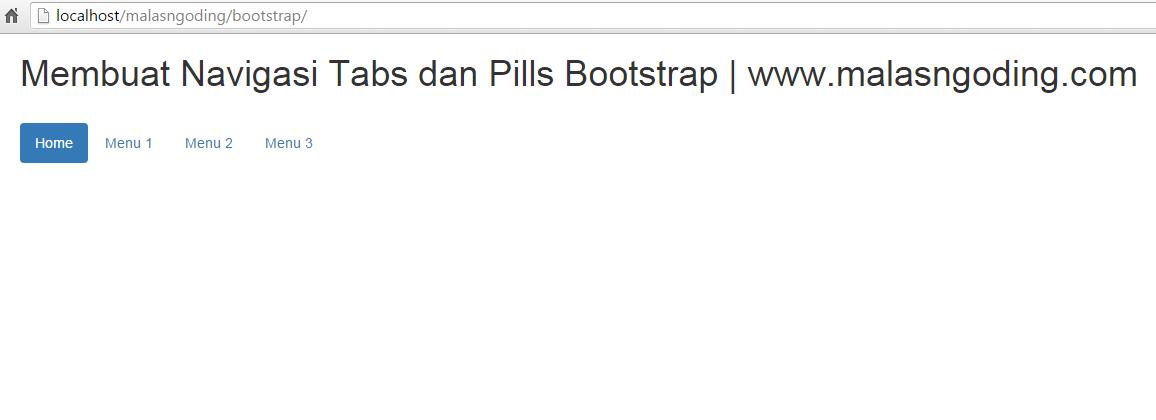 membuat navigasi pills dengan bootstrap