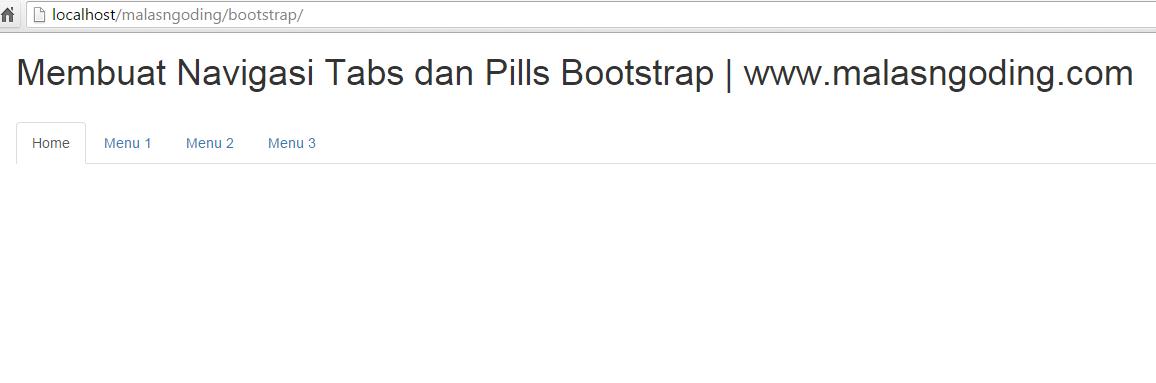 membuat navigasi tabs dan pills bootstrap