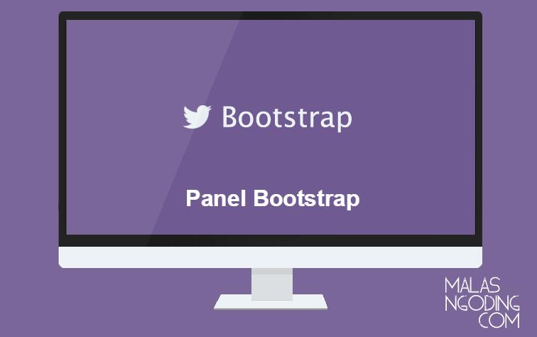 membuat panel dengan bootstrap