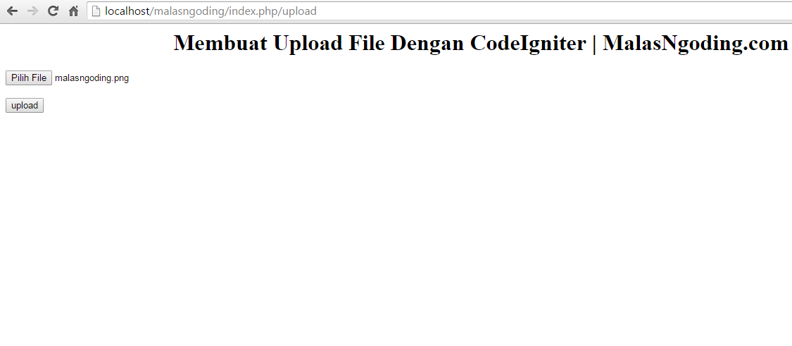 membuat upload file pada codeigniter