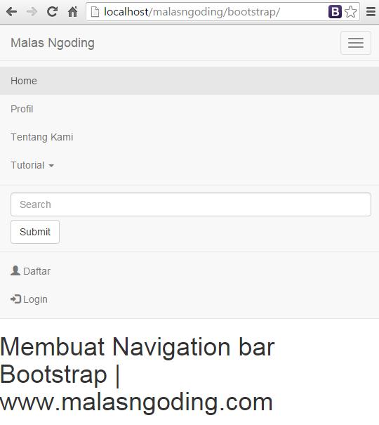 menu navigation bar bootstrap ddropdown
