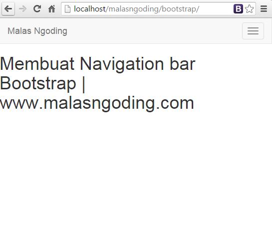 menu navigation bar bootstrap