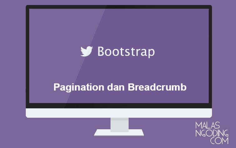 pagination dan breadcrumb bootstrap