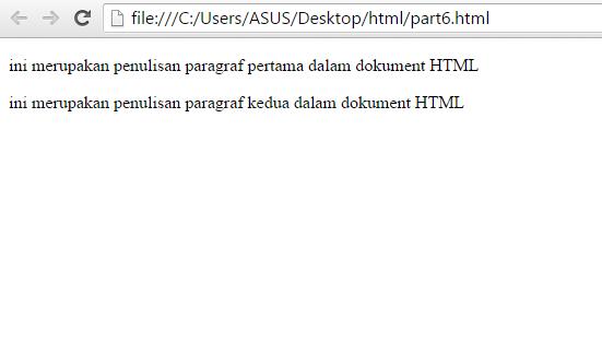 Belajar HTML Part 6: Membuat Paragraf Pada HTML