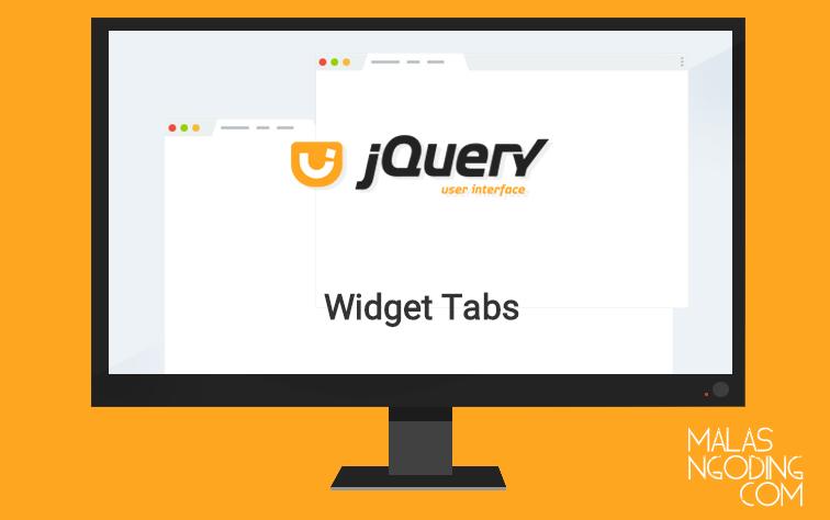 Membuat widget tabs dengan jquery ui