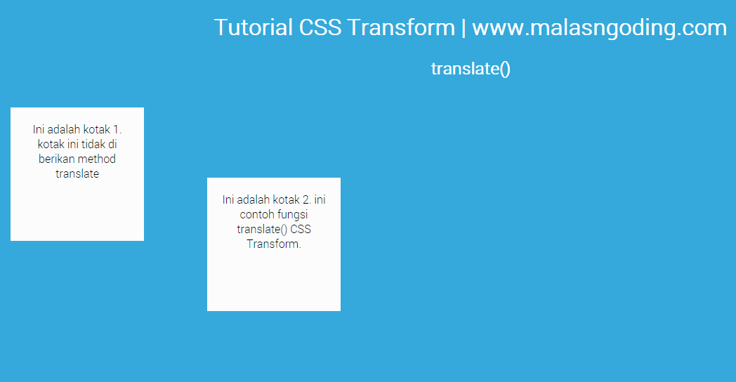 Tutorial CSS3 Part 5 - Belajar CSS Transform