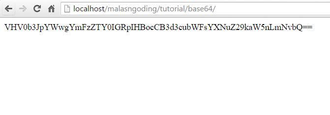 cara enkripsi base64 php