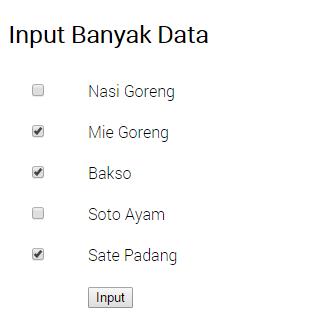cara insert banyak data sekaligus dengan php