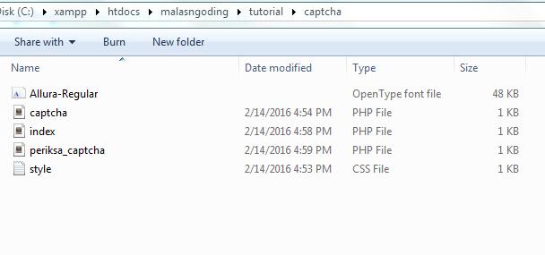 cara membuat captcha dengan php