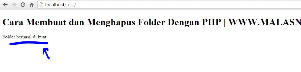cara membuat dan menghapus folder atau directory di php