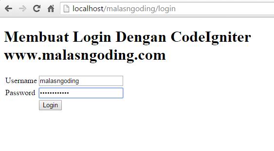 contoh login dengan codeigniter