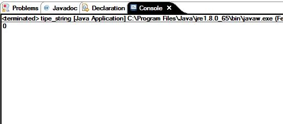 Fungsi tipe data string di Java