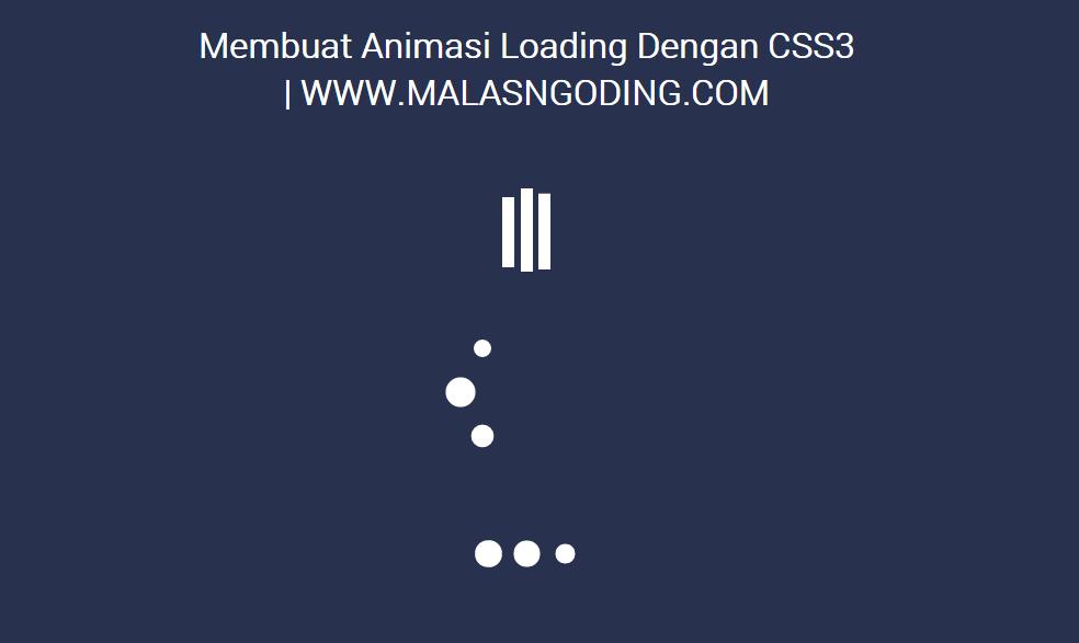 membuat animasi loading dengan css3