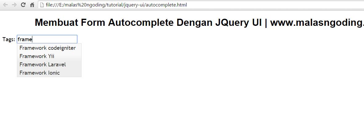 membuat form autocomplete dengan jquery ui