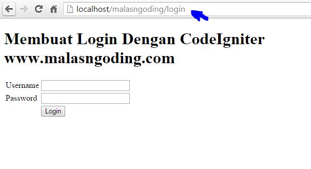 membuat form login dengan codeigniter