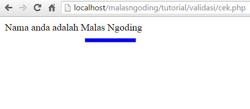 membuat form validasi dengan php