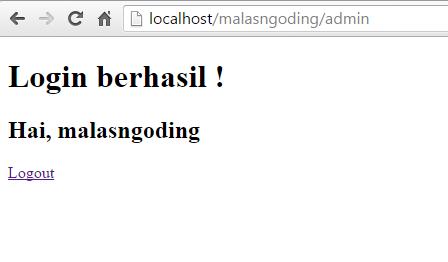 membuat sistem login dengan codeigniter