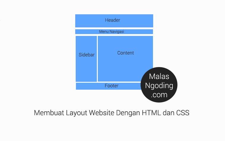 membuat tampilan layout website dengan html dan css