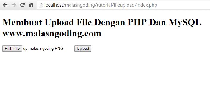 membuat upload file gambar dengan php dan mysql