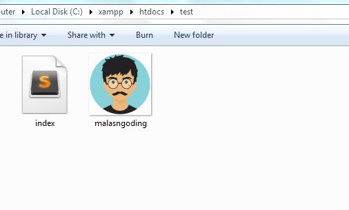 memeriksa ketersediaan file dengan php