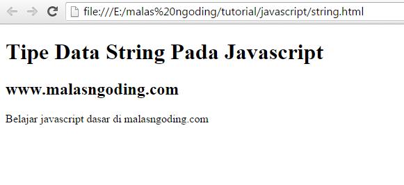 belajar javascript mengenal tipe data pada javascript