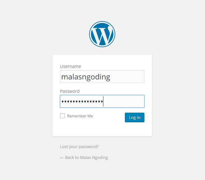 membuat blog dengan wordpress di localhost