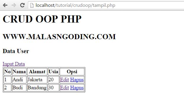 Membuat CRUD Dengan OOP PHP Dan MySQL