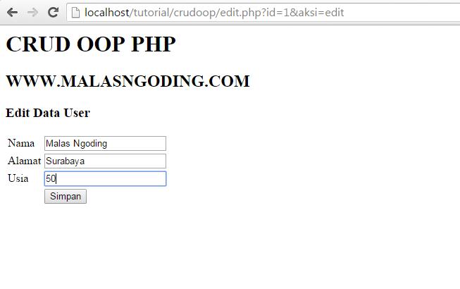 membuat crud php dan mysql dengan oop