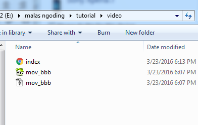 menampilkan video dengan html