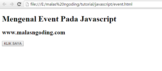 mengenal event pada javascript