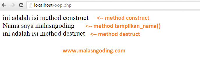 PHP OOP Pengenalan Construct Dan Destruct Pada OOP PHP
