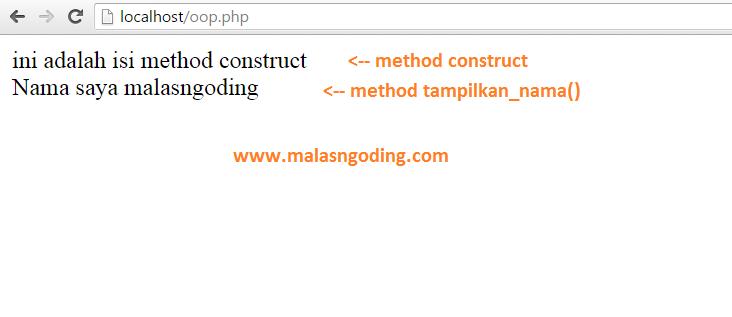 pengertian dan cara menggunakan method construct