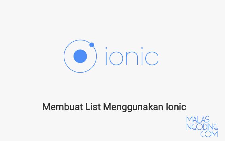 Membuat List Menggunakan Ionic